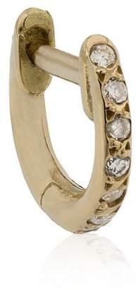 Ileana Makri mini yellow gold and diamond hoop