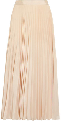 Alice + Olivia - Essie Pleated Georgette Midi Skirt - Cream $355 thestylecure.com