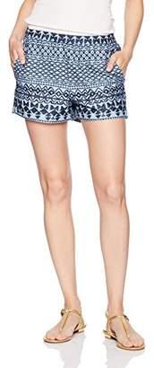 BCBGMAXAZRIA Women's Isaac-Patch Pocket Printed Woven Sportswear Shorts
