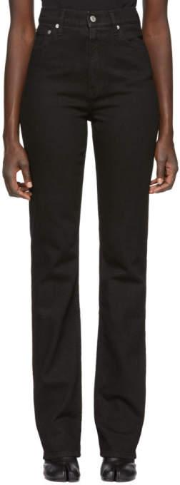 Black Femme Hi Bootcut Jeans