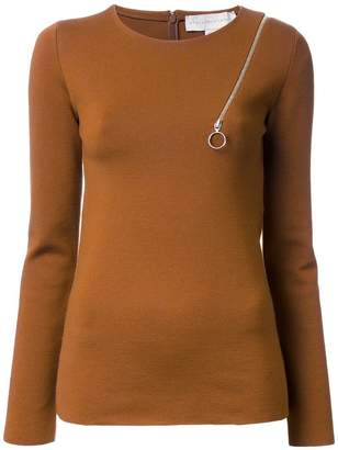 Stella McCartney zip shoulder detail jumper