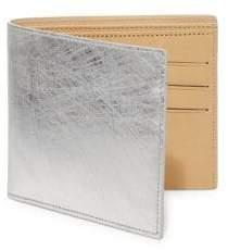Maison Margiela Scratched Metallic Leather Bifold Wallet