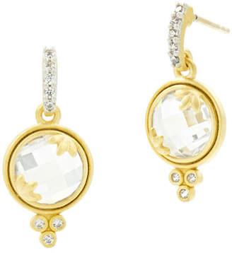 Freida Rothman 14k Fleur Bloom Cubic Zirconia Mini Drop Earrings