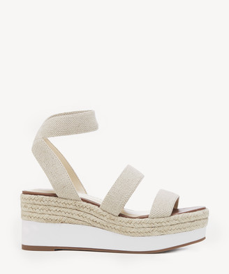 Sole Society Women's Aven Sport Elastic Wedges Natural Size 5 WOVEN ELASTIC From