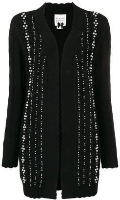 Edward Achour Paris faux-pearl embellished cardigan