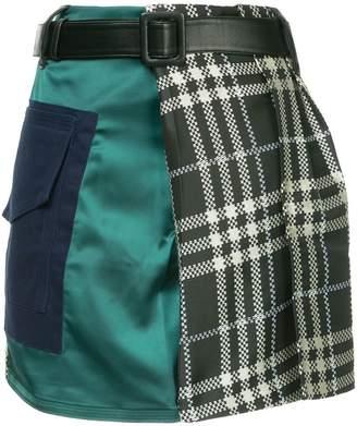 Self-Portrait asymmetric mini skirt