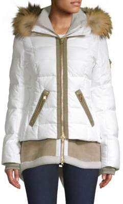 Bogner Eyla Double-Layer Shearling Puffer Jacket