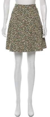 Akris Punto Tweed Pleated Knee-Length Skirt