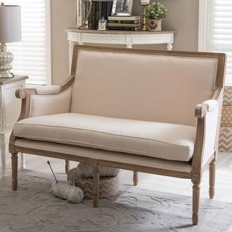 ... Baxton Studio Chavanon Loveseat Sofa
