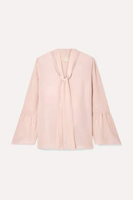 MICHAEL Michael Kors Pussy-bow Silk Crepe De Chine Blouse - Blush