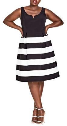 City Chic Fair Lady Fit & Flare Dress