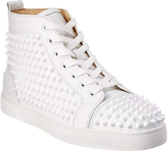 Christian Louboutin Louis Spike Leather High Top Sneaker