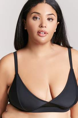 Forever 21 Plus Size Mesh Trim Bikini Top