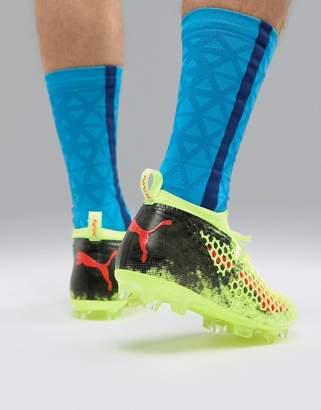 Puma Future Football Boots 18.2 Netfit In Yellow 10432101