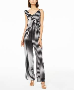 Bar III Striped Jumpsuit, Created for Macy's