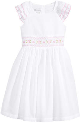Bonnie Jean Embroidered Smocked-Waist Dress, Toddler Girls