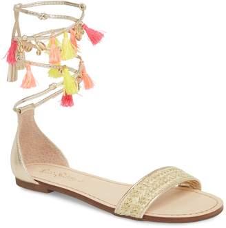 Lilly Pulitzer R) Tassel Ankle Wrap Sandal