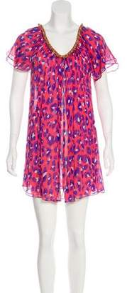 Diane von Furstenberg Silk Printed Cover-Up