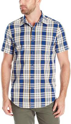 Nautica Men's Classic Fit Plaid Short Sleeve Shirt