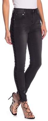 Romeo & Juliet Couture Velvet Grommet Skinny Jeans
