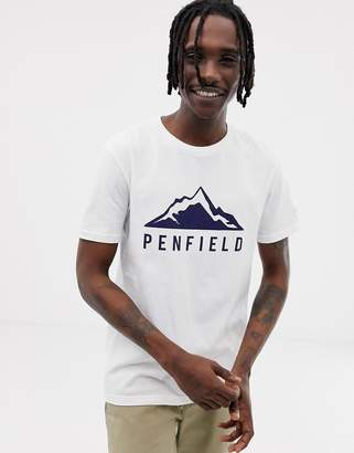 Penfield Augusta Mountain logo front t-shirt in white