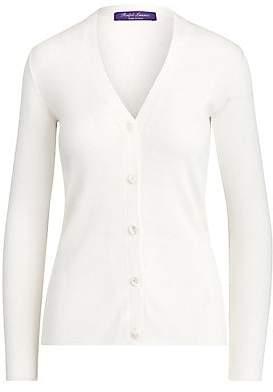 Ralph Lauren Women's Silk Ribbed Cardigan