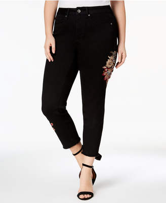 Seven7 Jeans Trendy Plus Size Embroidered Skinny Jeans