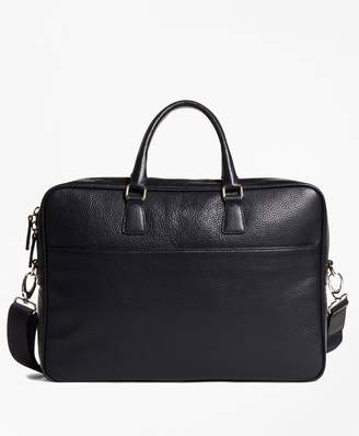 Brooks Brothers Pebble Leather Briefcase