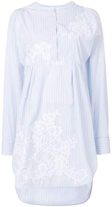 Ermanno Scervino round-neck striped shirt dress