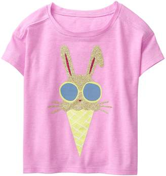Crazy 8 Crazy8 Sparkle Bunny Ice Cream Crop Tee