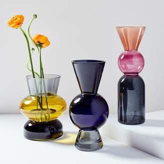 west elm Totem Colored Glass Vases