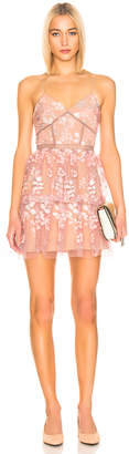 Self-Portrait Self Portrait Floral Embellished Mini Dress in Pink | FWRD