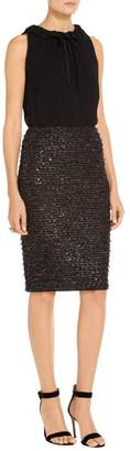 St. John Sparkle Fil Coupe Knit Dress