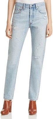 Levi's 501® Straight Leg Jeans in Clear Minds $98 thestylecure.com