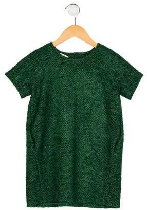 Marni Girls' Wool Short Sleeve Dress