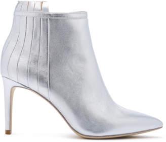 Rachel Zoe Taylor Metallic Leather Heeled Ankle Boots