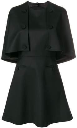 Sara Battaglia front buttons detail a-line dress