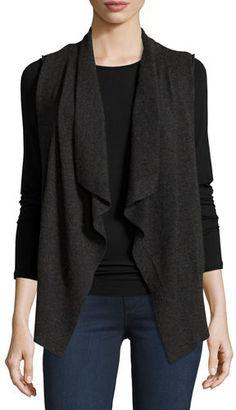 Neiman Marcus Cashmere Collection Cashmere Draped Vest $275 thestylecure.com