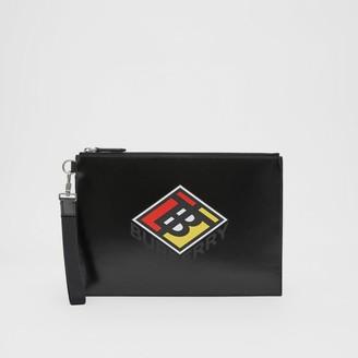 Burberry Logo Graphic Canvas Zip Pouch