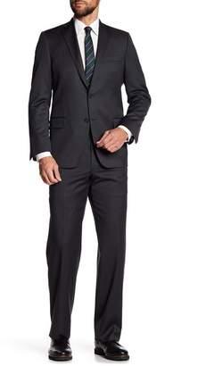 Hickey Freeman Gray Woven Regular Fit Suit