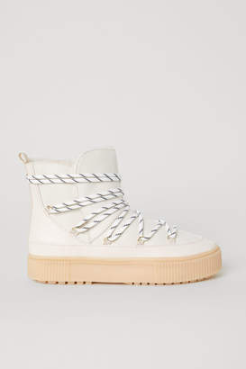 H&M Lined Boots - White
