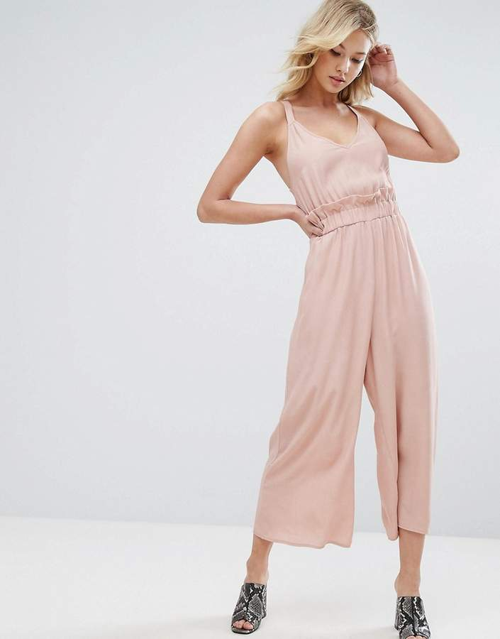 Asos ASOS Jumpsuit with Frill and Wide Leg
