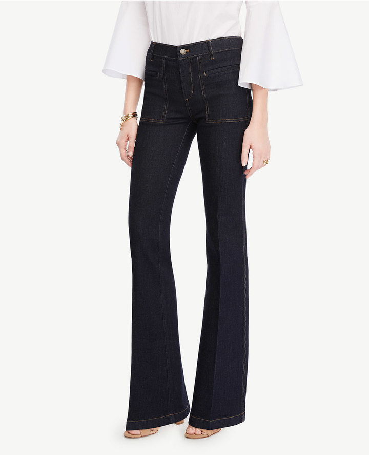 Ann TaylorPetite Patch Pocket Flare Jeans