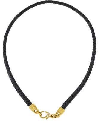 18K Diamond & Leather Choker Necklace