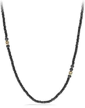David Yurman Skull Necklace With Black Spinel, Black Diamonds And 18K