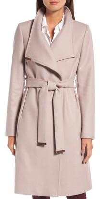 Women's Ted Baker London Wool Blend Long Wrap Coat $575 thestylecure.com