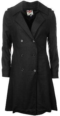 Lee Cooper Womens Trench Coat Mac Top Jacket Long Sleeve Lightweight Fold Over