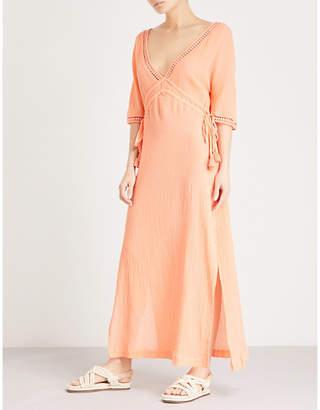 Heidi Klein Tassel-trim cotton maxi dress