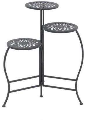 Cole & Grey Modern Pierced Top Design Folding Plant Stand