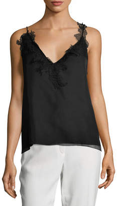Lanvin Lace V-Neck Top